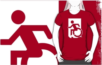 Accessible Means of Egress Icon Adult t-shirt 62