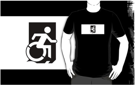 Accessible Means of Egress Icon Adult t-shirt 63