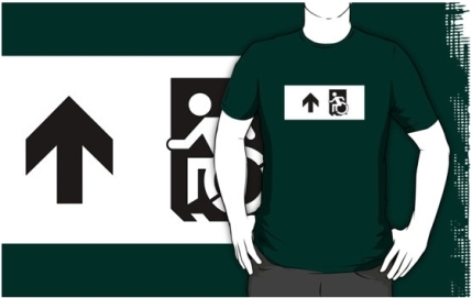 Accessible Means of Egress Icon Adult t-shirt 64