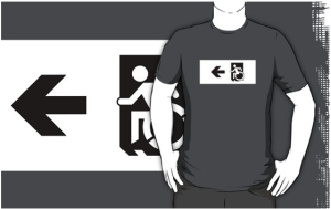 Accessible Means of Egress Icon Adult t-shirt 65