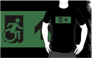 Accessible Means of Egress Icon Adult t-shirt 68