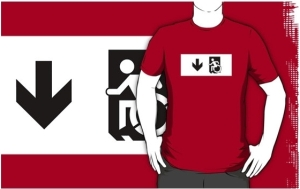 Accessible Means of Egress Icon Adult t-shirt 69