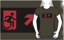 Accessible Means of Egress Icon Adult t-shirt 7