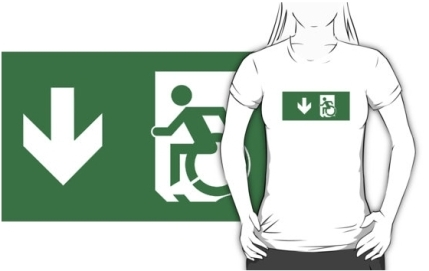 Accessible Means of Egress Icon Adult t-shirt 74