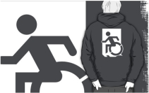 Accessible Means of Egress Icon Adult t-shirt 75