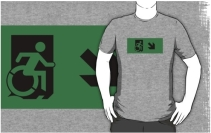 Accessible Means of Egress Icon Adult t-shirt 79