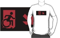 Accessible Means of Egress Icon Adult t-shirt 8