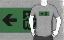 Accessible Means of Egress Icon Adult t-shirt 83