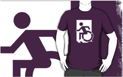 Accessible Means of Egress Icon Adult t-shirt 84