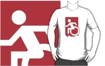 Accessible Means of Egress Icon Adult t-shirt 86