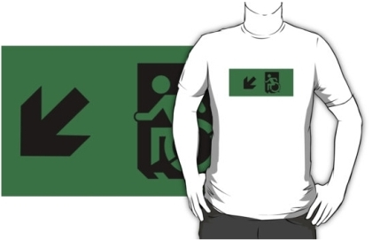 Accessible Means of Egress Icon Adult t-shirt 87