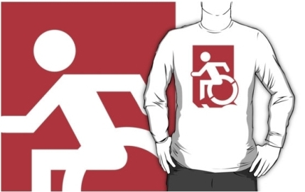 Accessible Means of Egress Icon Adult t-shirt 88