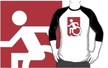 Accessible Means of Egress Icon Adult t-shirt 89