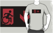 Accessible Means of Egress Icon Adult t-shirt 9