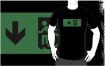Accessible Means of Egress Icon Adult t-shirt 90