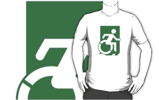 Accessible Means of Egress Icon Adult t-shirt 91