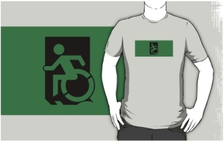 Accessible Means of Egress Icon Adult t-shirt 92