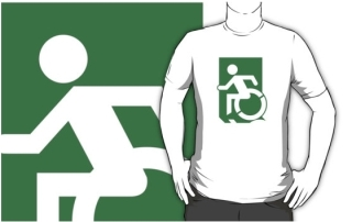 Accessible Means of Egress Icon Adult t-shirt 93