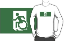 Accessible Means of Egress Icon Adult t-shirt 94
