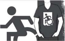 Accessible Means of Egress Icon Adult t-shirt 95