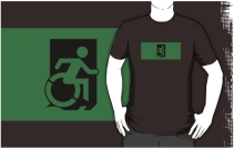 Accessible Means of Egress Icon Adult t-shirt 96