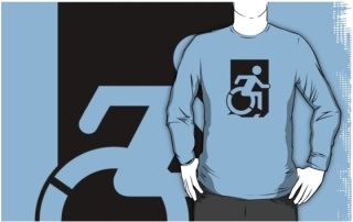 Accessible Means of Egress Icon Adult t-shirt 99