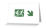 Accessible Means of Egress Icon Exit Sign Wheelchair Wheelie Running Man Symbol by Lee Wilson PWD Disability Emergency Evacuation Greeting Card 73