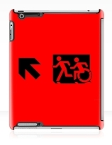 Accessible Means of Egress Icon Exit Sign Wheelchair Wheelie Running Man Symbol by Lee Wilson PWD Disability Emergency Evacuation iPad Case 58