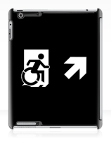 Accessible Means of Egress Icon Exit Sign Wheelchair Wheelie Running Man Symbol by Lee Wilson PWD Disability Emergency Evacuation iPad Case 71