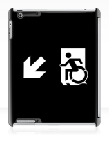 Accessible Means of Egress Icon Exit Sign Wheelchair Wheelie Running Man Symbol by Lee Wilson PWD Disability Emergency Evacuation iPad Case 82