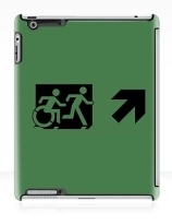 Accessible Means of Egress Icon Exit Sign Wheelchair Wheelie Running Man Symbol by Lee Wilson PWD Disability Emergency Evacuation iPad Case 84