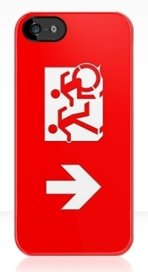 Accessible Means of Egress Icon Exit Sign Wheelchair Wheelie Running Man Symbol by Lee Wilson PWD Disability Emergency Evacuation iPhone Case 17