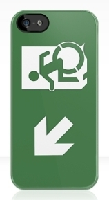 Accessible Means of Egress Icon Exit Sign Wheelchair Wheelie Running Man Symbol by Lee Wilson PWD Disability Emergency Evacuation iPhone Case 21