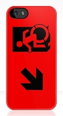 Accessible Means of Egress Icon Exit Sign Wheelchair Wheelie Running Man Symbol by Lee Wilson PWD Disability Emergency Evacuation iPhone Case 36