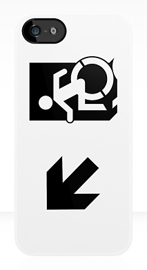 Accessible Means of Egress Icon Exit Sign Wheelchair Wheelie Running Man Symbol by Lee Wilson PWD Disability Emergency Evacuation iPhone Case 65