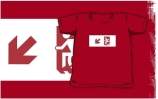 Accessible Means of Egress Icon Exit Sign Wheelchair Wheelie Running Man Symbol by Lee Wilson PWD Disability Emergency Evacuation Kids T-shirts 88