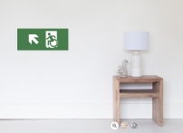 Accessible Means of Egress Icon Exit Sign Wheelchair Wheelie Running Man Symbol by Lee Wilson PWD Disability Emergency Evacuation Poster 116