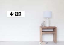 Accessible Means of Egress Icon Exit Sign Wheelchair Wheelie Running Man Symbol by Lee Wilson PWD Disability Emergency Evacuation Poster 12