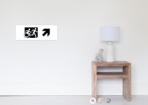 Accessible Means of Egress Icon Exit Sign Wheelchair Wheelie Running Man Symbol by Lee Wilson PWD Disability Emergency Evacuation Poster 3