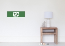 Accessible Means of Egress Icon Exit Sign Wheelchair Wheelie Running Man Symbol by Lee Wilson PWD Disability Emergency Evacuation Poster 51