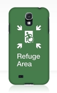 Accessible Means of Egress Icon Exit Sign Wheelchair Wheelie Running Man Symbol by Lee Wilson PWD Disability Emergency Evacuation Refuge Area Samsung Galaxy Case 2