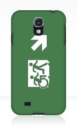 Accessible Means of Egress Icon Exit Sign Wheelchair Wheelie Running Man Symbol by Lee Wilson PWD Disability Emergency Evacuation Samsung Galaxy Case 10