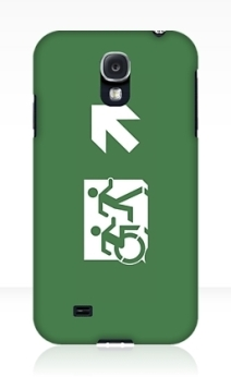 Accessible Means of Egress Icon Exit Sign Wheelchair Wheelie Running Man Symbol by Lee Wilson PWD Disability Emergency Evacuation Samsung Galaxy Case 11