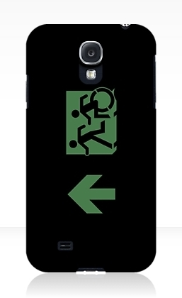 Accessible Means of Egress Icon Exit Sign Wheelchair Wheelie Running Man Symbol by Lee Wilson PWD Disability Emergency Evacuation Samsung Galaxy Case 111