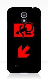 Accessible Means of Egress Icon Exit Sign Wheelchair Wheelie Running Man Symbol by Lee Wilson PWD Disability Emergency Evacuation Samsung Galaxy Case 120