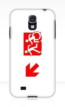 Accessible Means of Egress Icon Exit Sign Wheelchair Wheelie Running Man Symbol by Lee Wilson PWD Disability Emergency Evacuation Samsung Galaxy Case 132