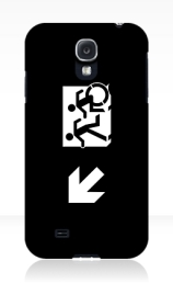 Accessible Means of Egress Icon Exit Sign Wheelchair Wheelie Running Man Symbol by Lee Wilson PWD Disability Emergency Evacuation Samsung Galaxy Case 146
