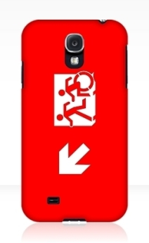 Accessible Means of Egress Icon Exit Sign Wheelchair Wheelie Running Man Symbol by Lee Wilson PWD Disability Emergency Evacuation Samsung Galaxy Case 19