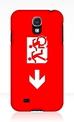 Accessible Means of Egress Icon Exit Sign Wheelchair Wheelie Running Man Symbol by Lee Wilson PWD Disability Emergency Evacuation Samsung Galaxy Case 20