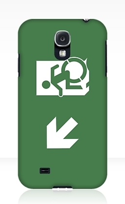 Accessible Means of Egress Icon Exit Sign Wheelchair Wheelie Running Man Symbol by Lee Wilson PWD Disability Emergency Evacuation Samsung Galaxy Case 21